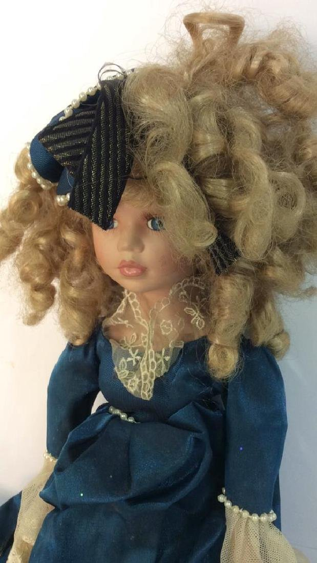 Antique Doll Hand Painted Bisque w Period Clothes - 3