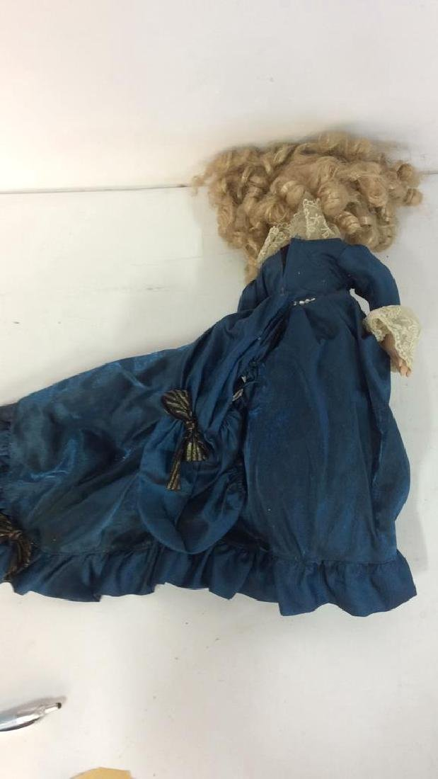 Antique Doll Hand Painted Bisque w Period Clothes - 5