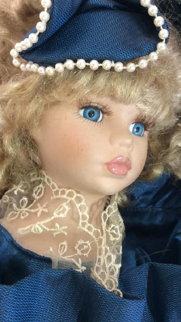 Antique Doll Hand Painted Bisque w Period Clothes - 8