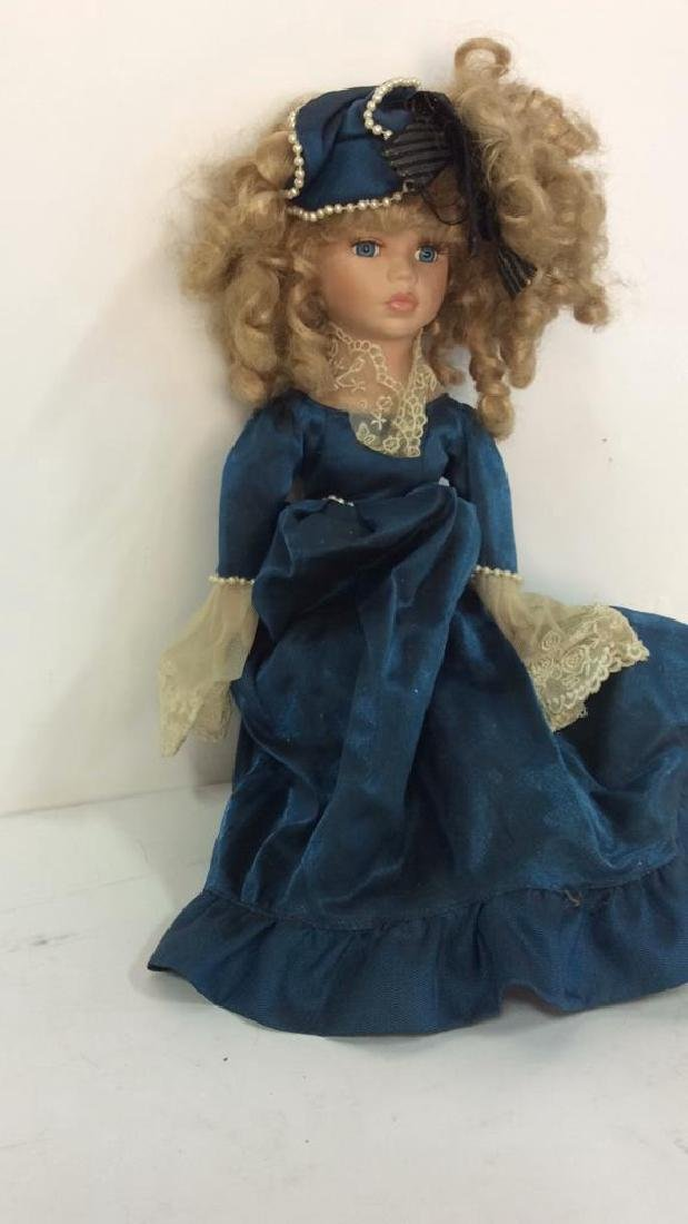 Antique Doll Hand Painted Bisque w Period Clothes - 9