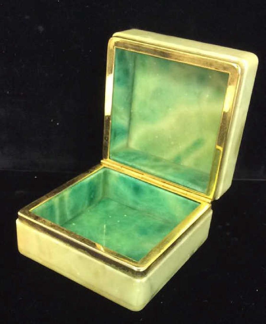 Polished Stone Two Tone Trinket Box