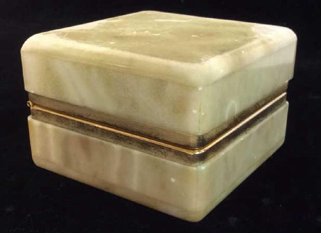 Polished Stone Two Tone Trinket Box - 2