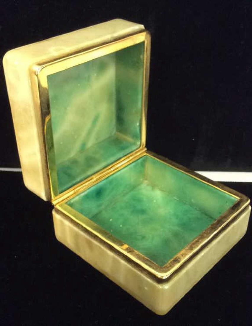 Polished Stone Two Tone Trinket Box - 4