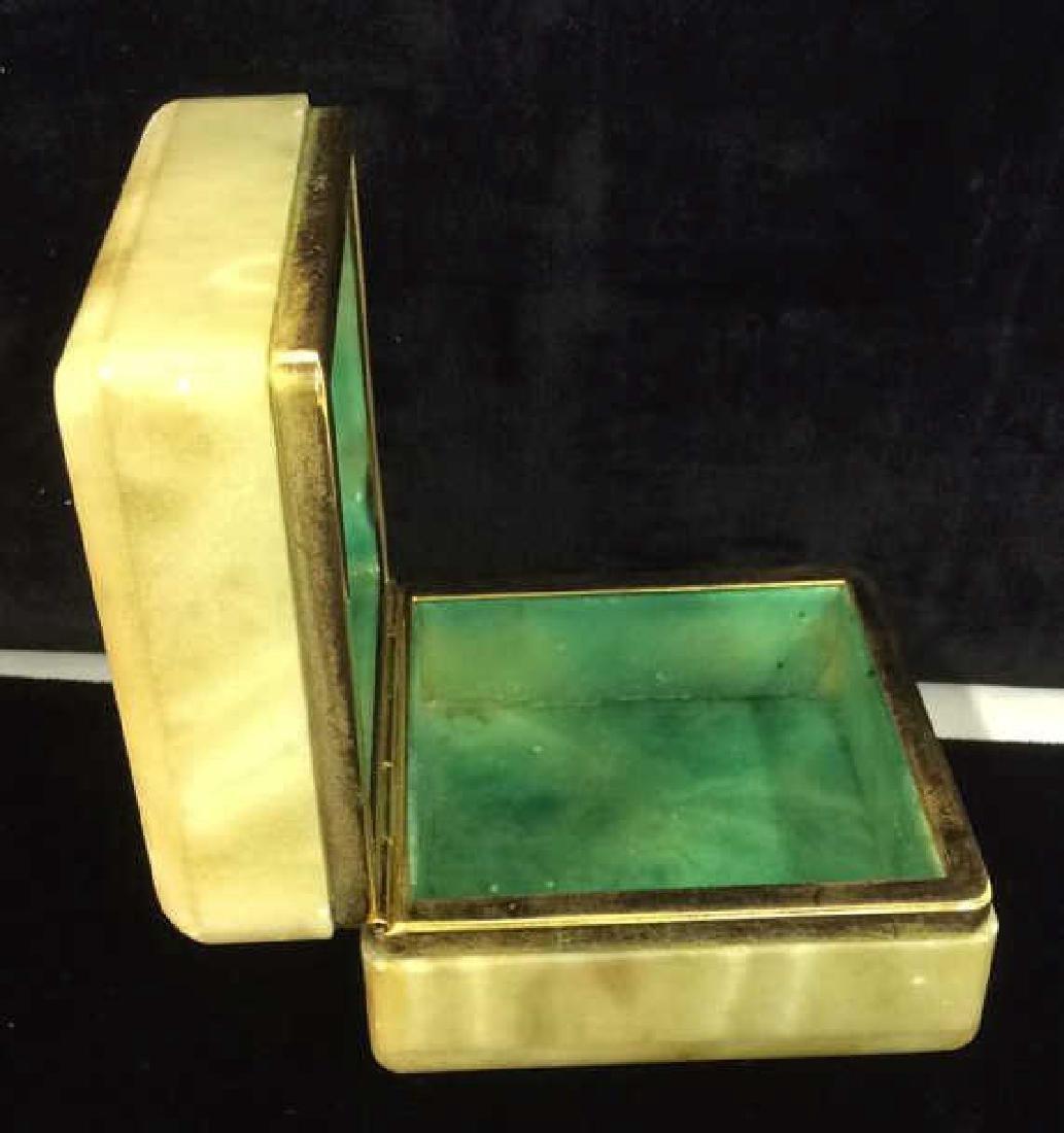 Polished Stone Two Tone Trinket Box - 5