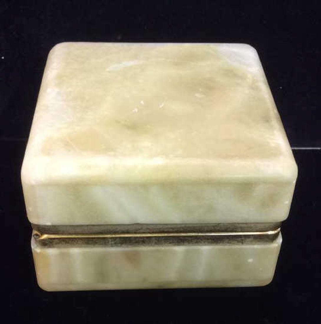 Polished Stone Two Tone Trinket Box - 6