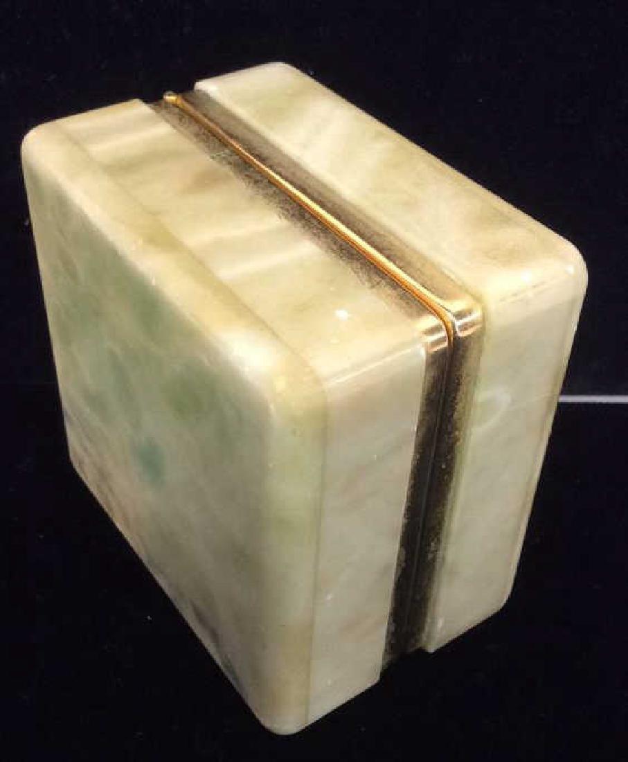 Polished Stone Two Tone Trinket Box - 7