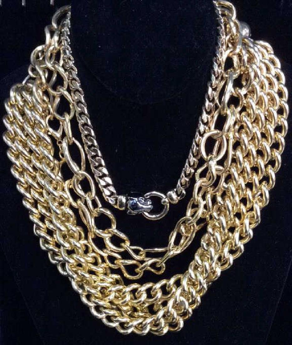 Lot 3 Gold Toned Metal Chains