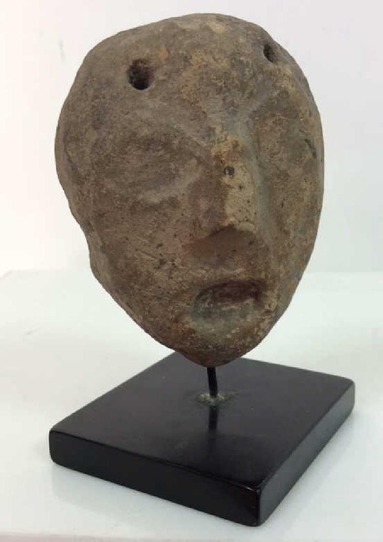 Carved Stone Face Figural - 6