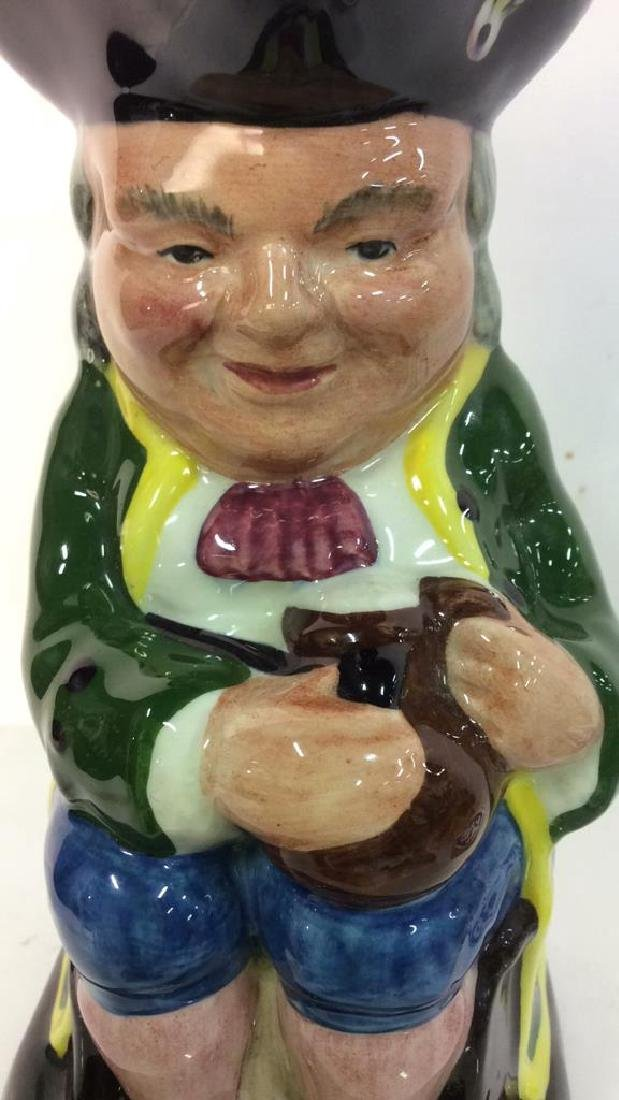 Hand Painted Toby Jug Staffordshire England - 10
