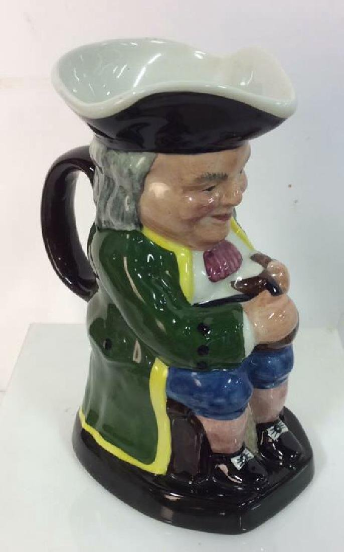 Hand Painted Toby Jug Staffordshire England - 4