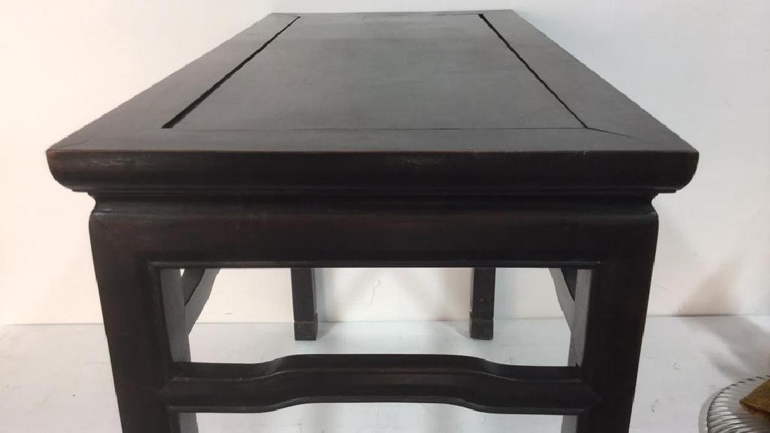Dark Brown Toned Chinese Wooden Table - 10