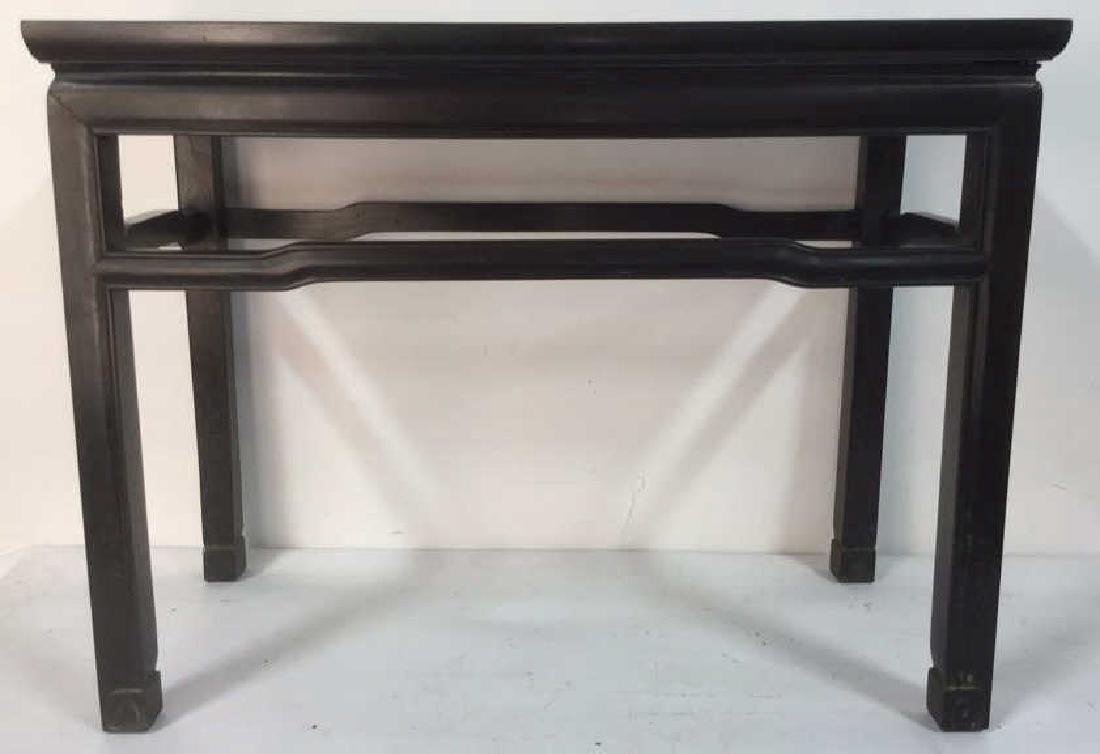 Dark Brown Toned Chinese Wooden Table - 2