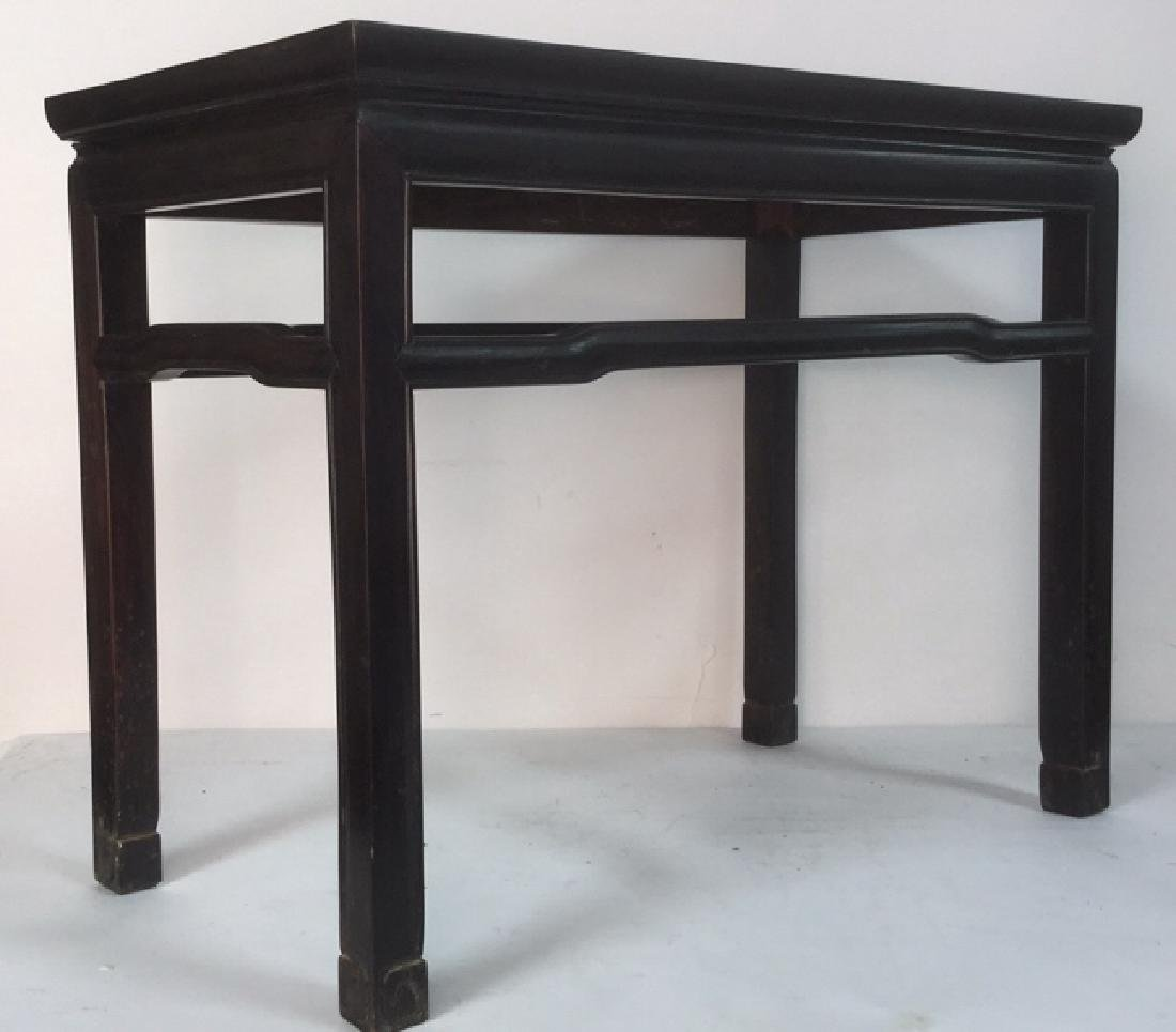 Dark Brown Toned Chinese Wooden Table - 3