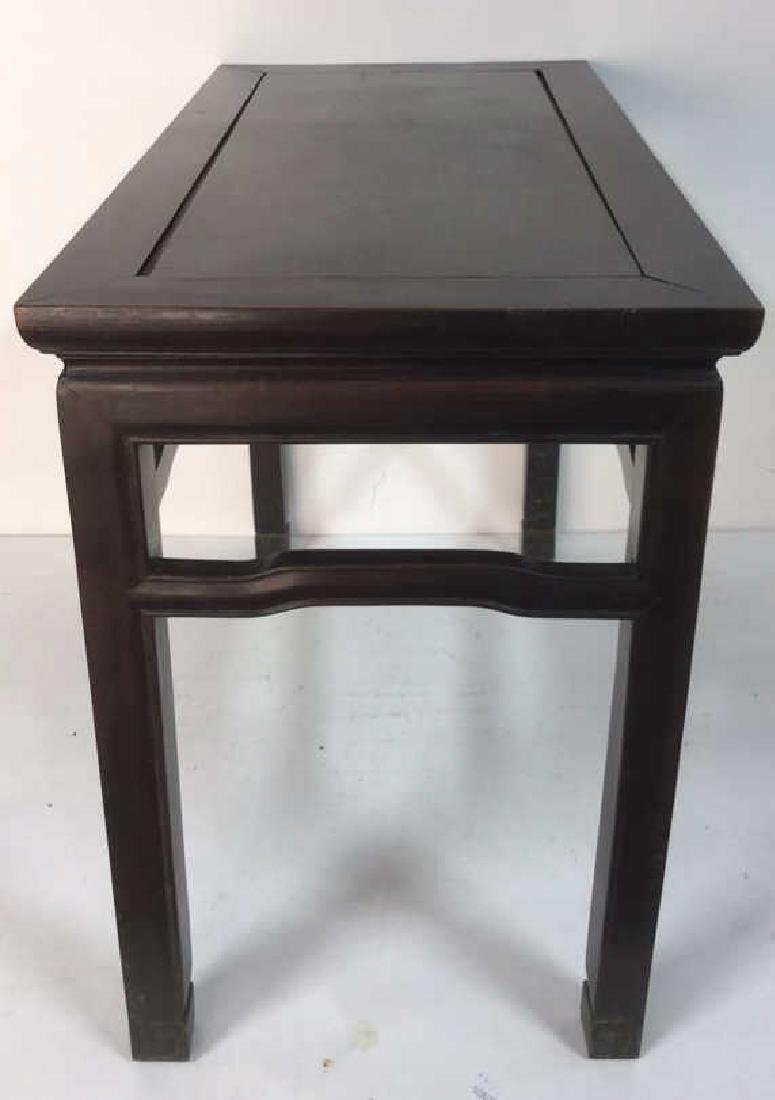 Dark Brown Toned Chinese Wooden Table - 5