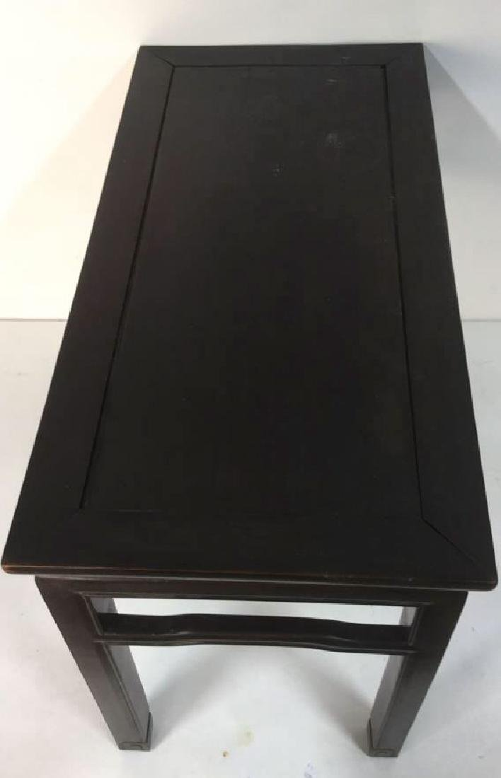 Dark Brown Toned Chinese Wooden Table - 6