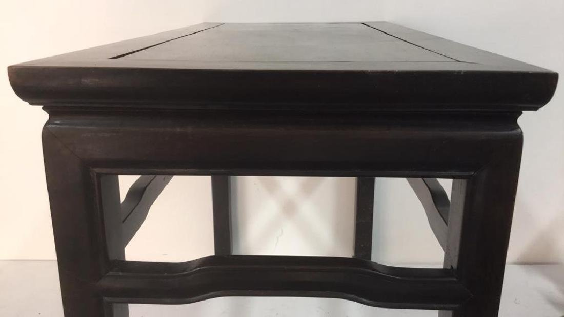 Dark Brown Toned Chinese Wooden Table - 7