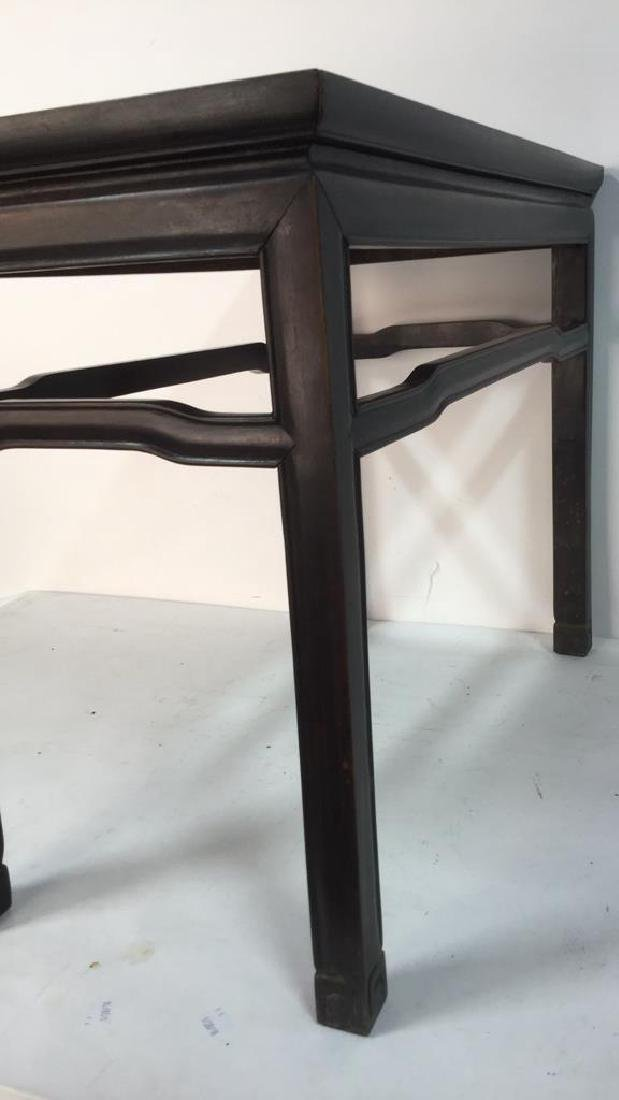 Dark Brown Toned Chinese Wooden Table - 8
