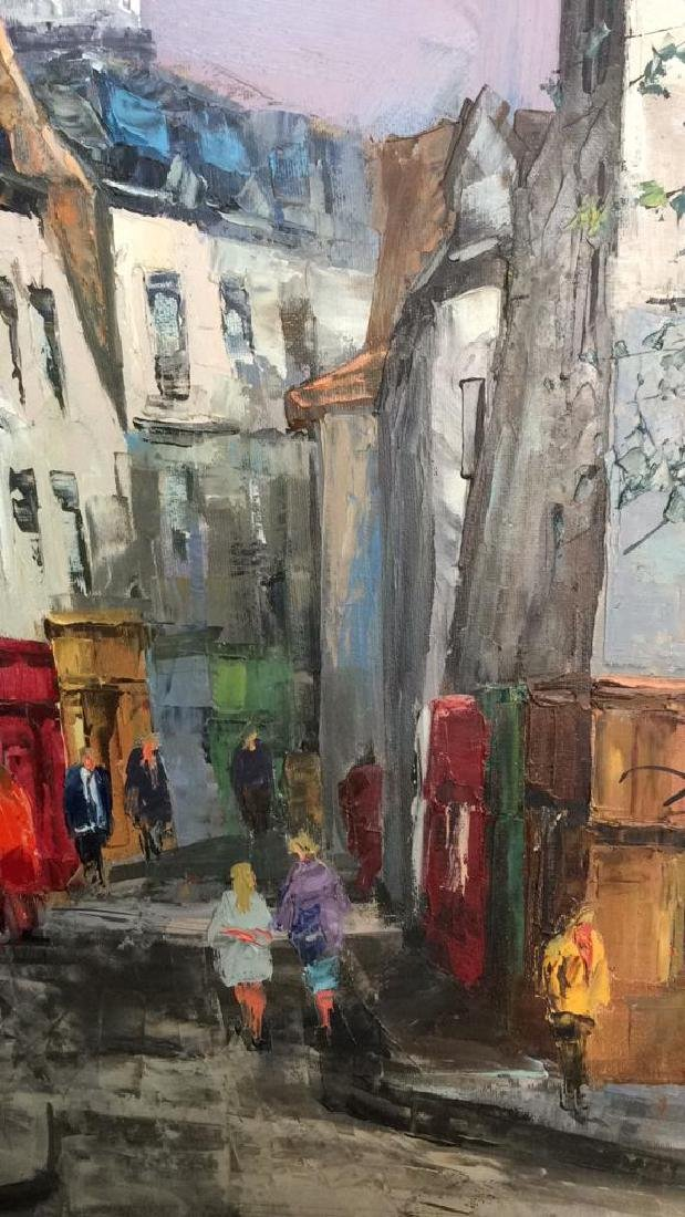 Signed Painting Of A Parisian Street Scene - 4