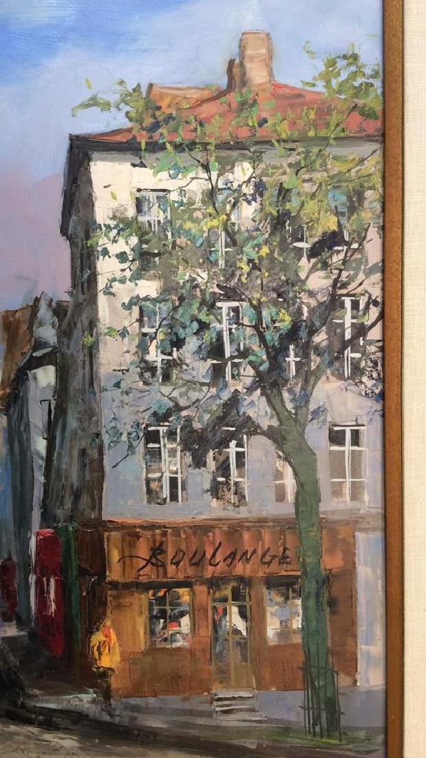 Signed Painting Of A Parisian Street Scene - 7