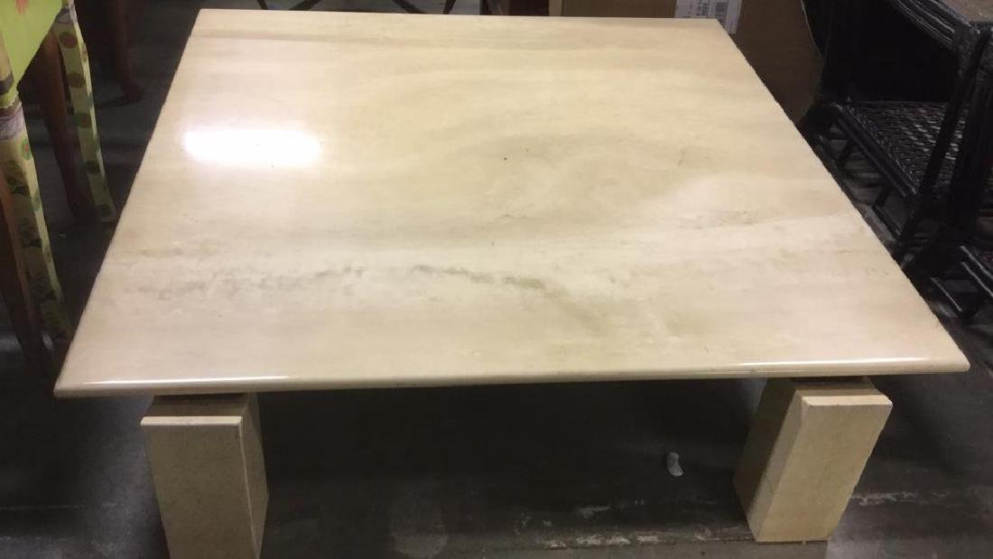 Low Stone Cream Toned Coffee Table