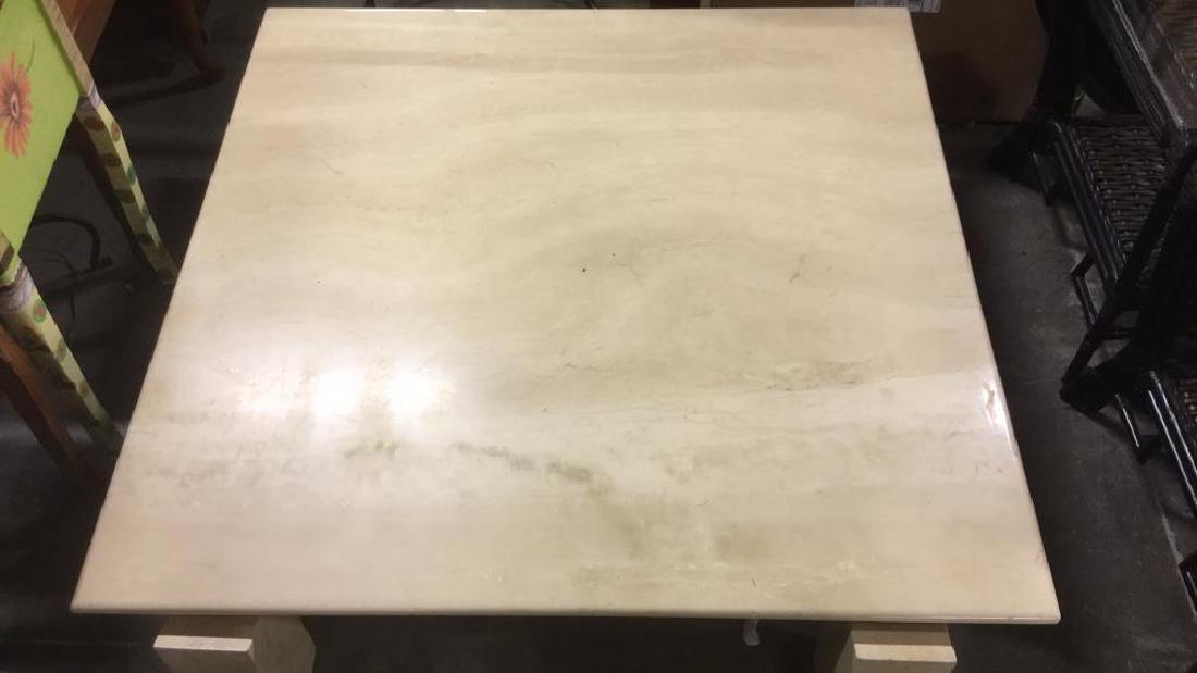 Low Stone Cream Toned Coffee Table - 2