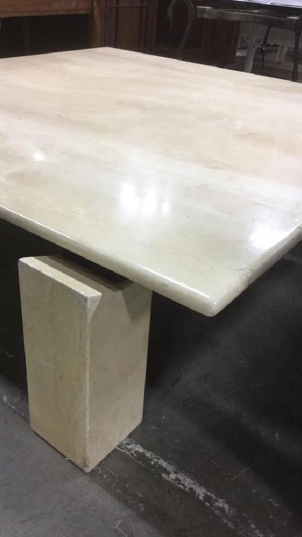 Low Stone Cream Toned Coffee Table - 4