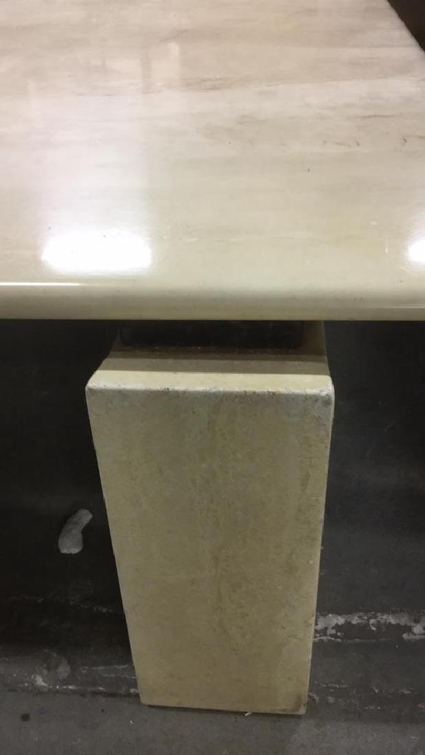Low Stone Cream Toned Coffee Table - 5