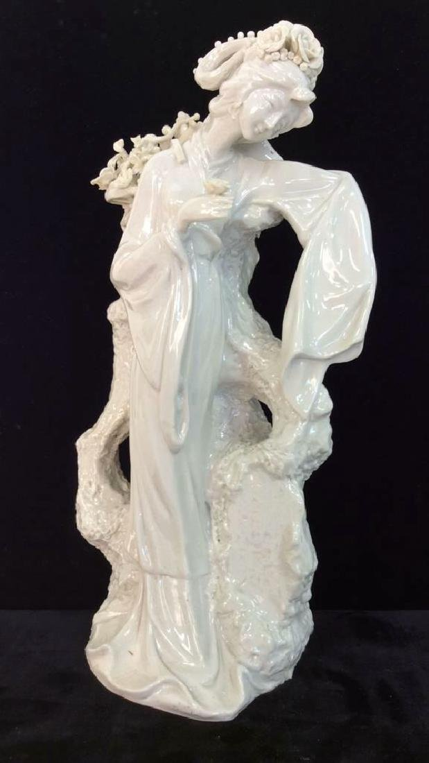 Poss Vintage Porcelain Oriental Woman Vase
