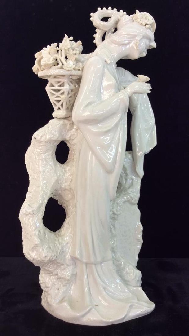 Poss Vintage Porcelain Oriental Woman Vase - 2