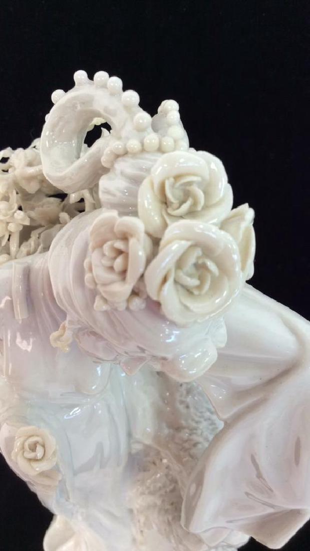 Poss Vintage Porcelain Oriental Woman Vase - 5