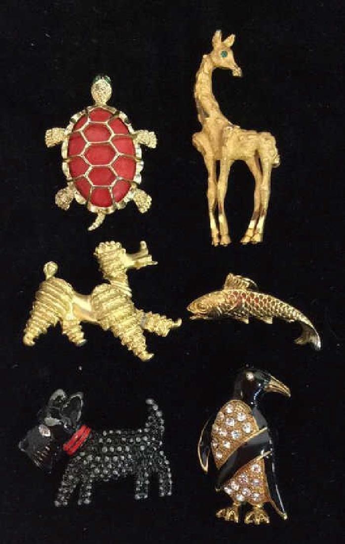 Lot 6 Assorted Animal Brooch Pins