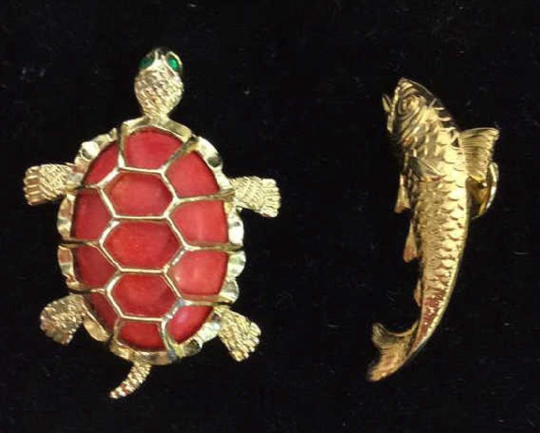 Lot 6 Assorted Animal Brooch Pins - 6