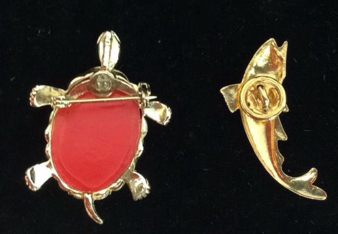 Lot 6 Assorted Animal Brooch Pins - 7