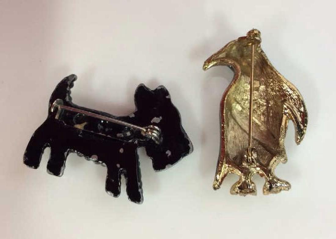 Lot 6 Assorted Animal Brooch Pins - 9