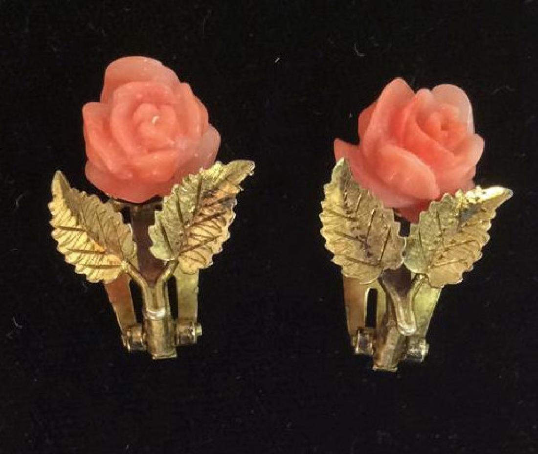 Rose Figural Clip Earrings Jewelry