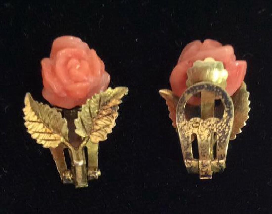 Rose Figural Clip Earrings Jewelry - 4