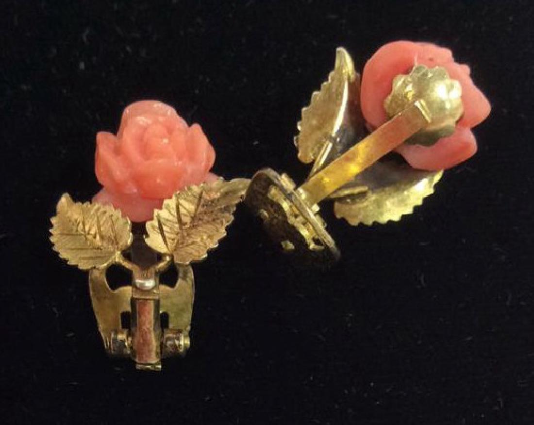 Rose Figural Clip Earrings Jewelry - 5