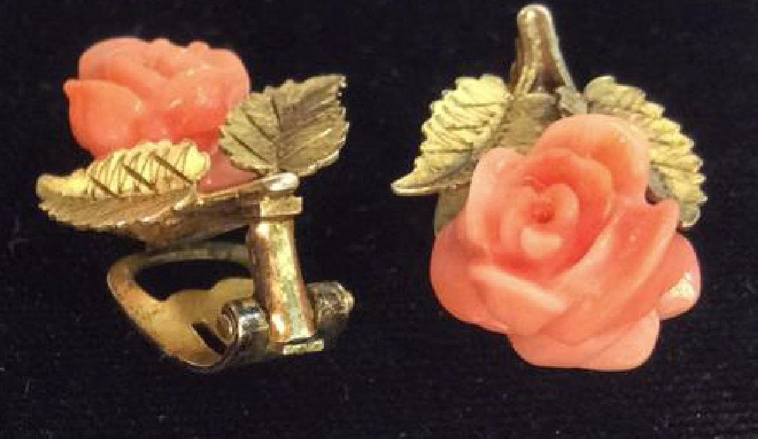 Rose Figural Clip Earrings Jewelry - 6