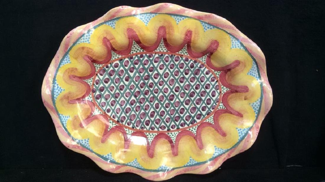 Handmade MACKENZIE CHILDS Platter