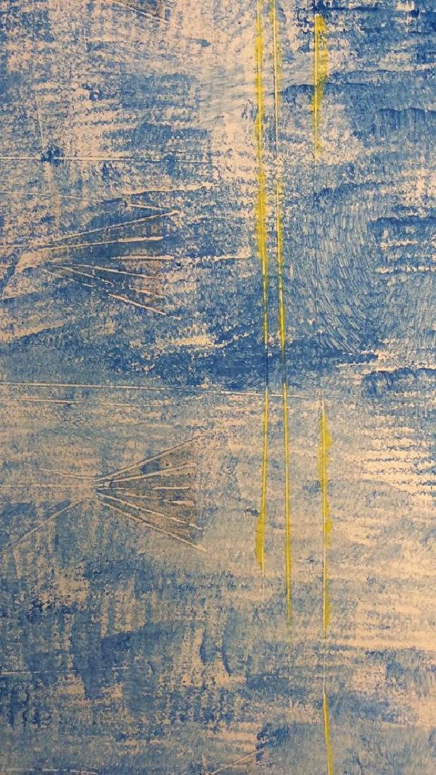 Blue Toned Fish Pop Art Textured  Painting - 3