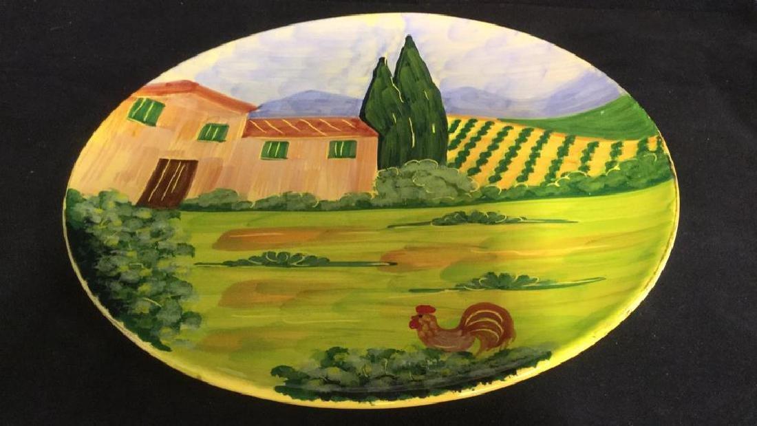 VIETRI Hand Painted Italian Decorative Plate - 10