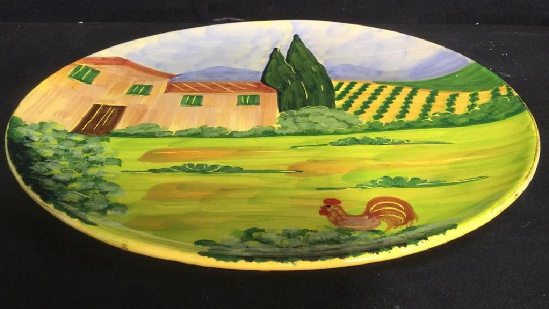 VIETRI Hand Painted Italian Decorative Plate - 2