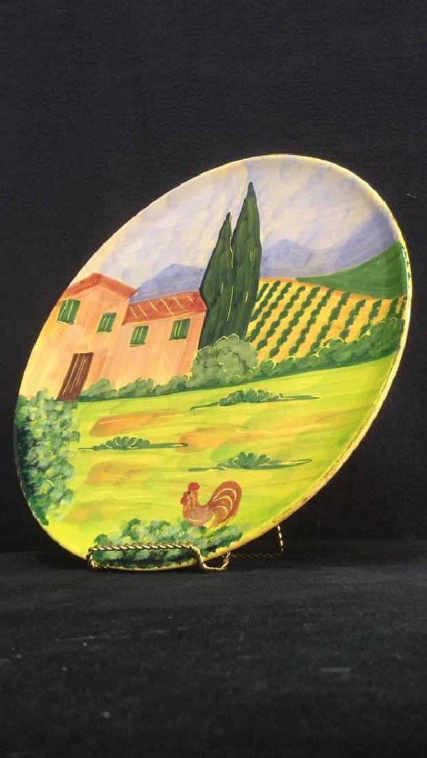 VIETRI Hand Painted Italian Decorative Plate - 4