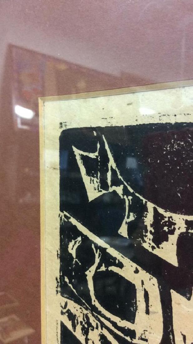 Mid Century Modern Woodblock Print c1969 - 6