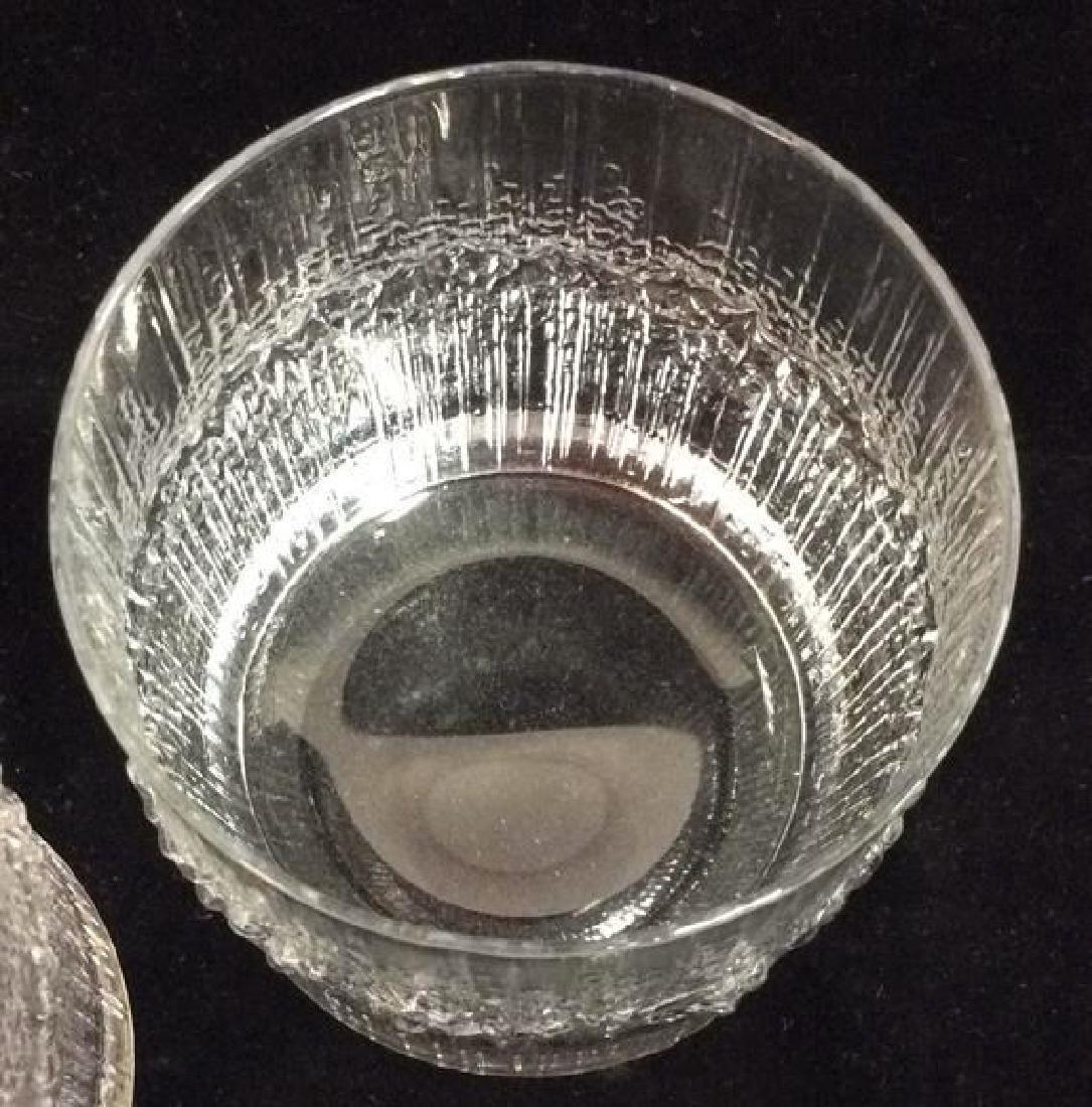 Pair Vintage Brutalist Crystal Glasses Finland - 3