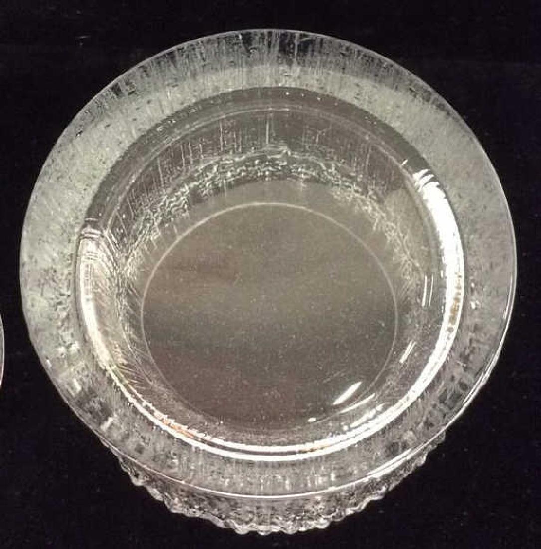 Pair Vintage Brutalist Crystal Glasses Finland - 4