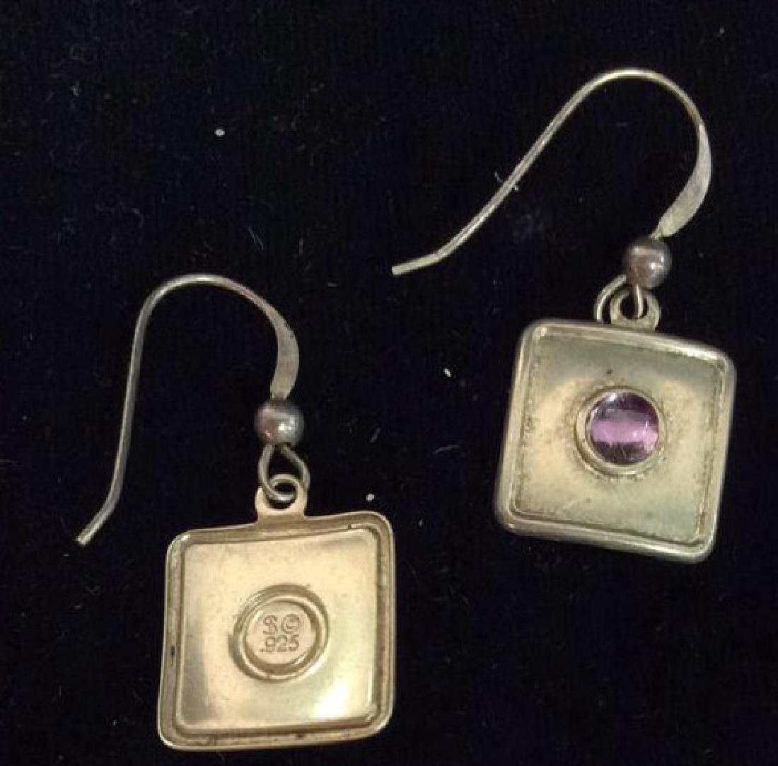 Sterling Silver Earrings Estate Jewelry - 3