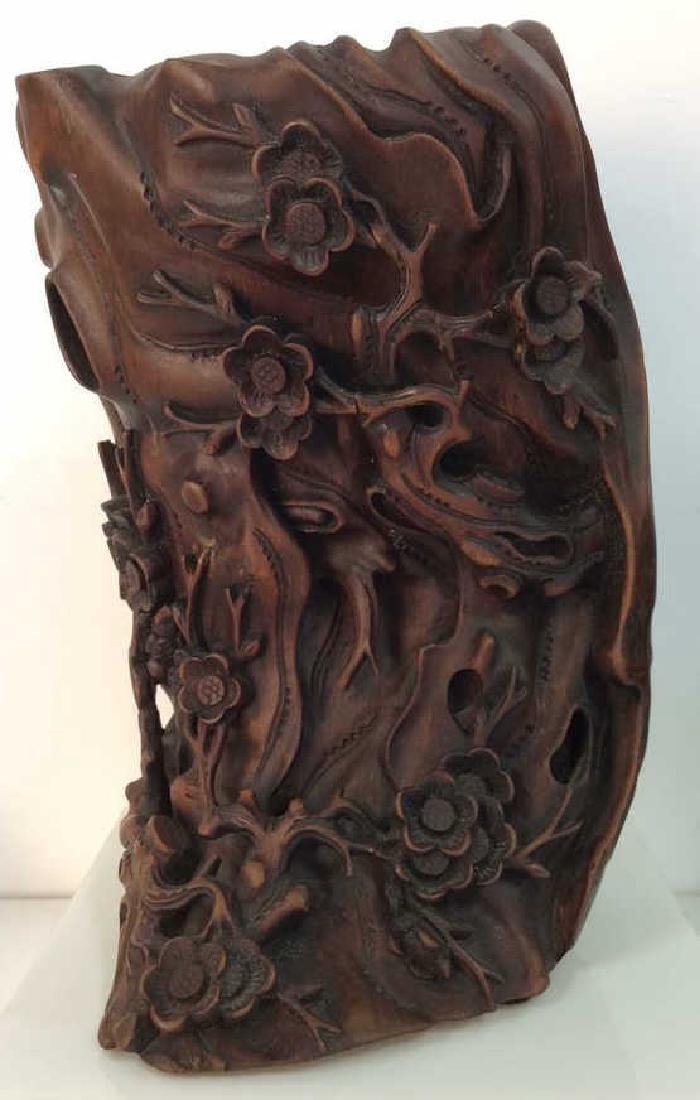 Chinese Scholar's Carved Bamboo Brush Holder