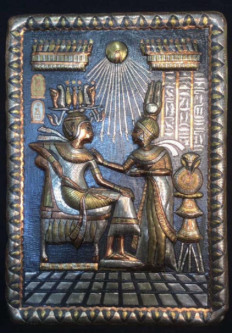 Egyptian Style Multi Toned Repousse Artwork