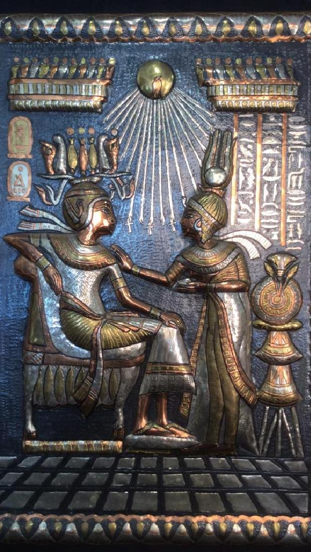 Egyptian Style Multi Toned Repousse Artwork - 3